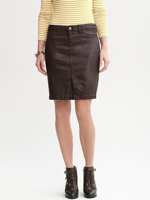 Banana Republic Coated denim pencil skirt