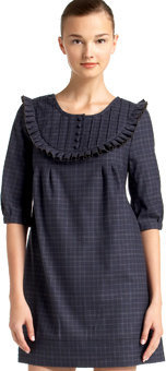 Juicy Couture Plaid Pintuck Dress