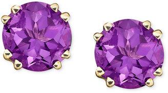 14k Gold Amethyst Stud Earrings (3-1/2 ct. t.w.)