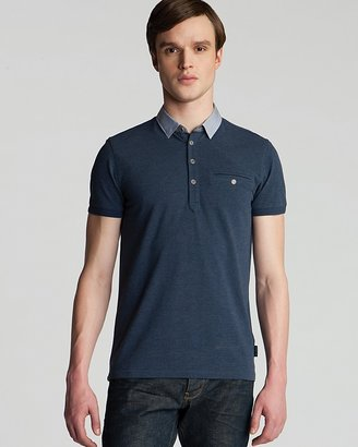 Ted Baker Newbiz Oxford Classic Fit Pique Polo