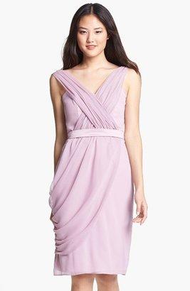 Lela Rose Bridesmaid Draped Chiffon Dress