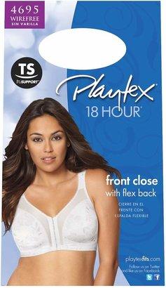 Playtex Bra: 18 Hour Front-Closure with Flex Back Wireless Bra 4695 - Women's