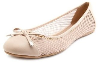Charlotte Russe Sheer Mesh Bow Front Ballet Flat