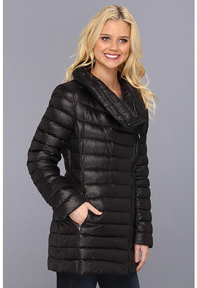 Calvin Klein Packable Down Puffer w/ Faux Leather TrimCW312073