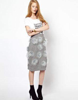 House of Holland Maribou Sweat Skirt