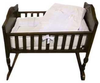 Baby Doll Bedding Royal Pique Crib Bedding Set - Ecru