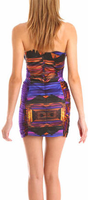 Belle Sauvage Mini Dress in Orange Spheric