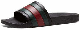 Gucci Pursuit '72 Rubber Slide Sandal $190 thestylecure.com