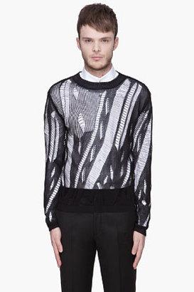 Paul Smith Black Slash Knit sweater