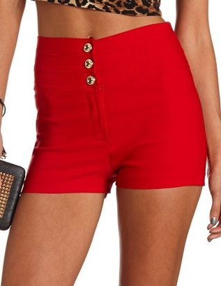 Charlotte Russe Stacked High Waist Millennium Short