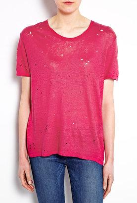 IRO Clay Distressed Oversized T-shirt