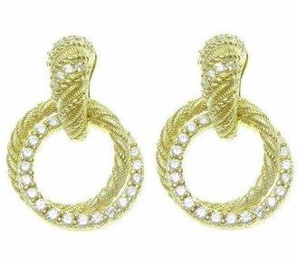 Judith Ripka Diamonique Drop Earrings, 14K Clad