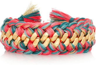 Aurelie Bidermann Do Brasil gold-plated woven bracelet