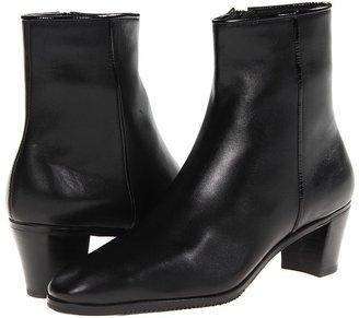 Gravati Short Side Zip Boot (Black Butter Calf) - Footwear