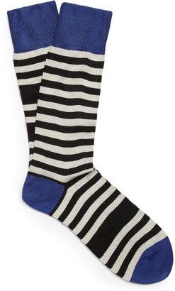 Paul Smith Odd Striped Cotton-Blend Socks