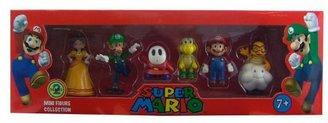 Nintendo Super Mario Mini Figure 6 Pack (Complete Set)