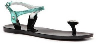 Giuseppe Zanotti Metallic Leather Flat Sandal