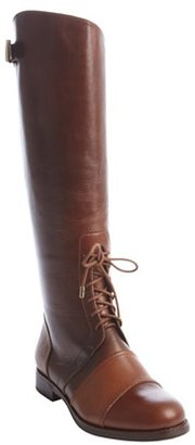 Rachel Zoe brown leather 'Georgia' lace up detail tall boots