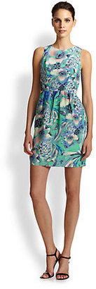 Shoshanna Louise Silk Floral-Print Dress