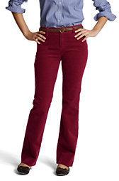 Lands' End Women's Pre-hemmed Original 14-wale Corduroy Boot-cut Pants-Dark Red $49.50 thestylecure.com