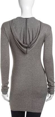 L.A.M.B. Knit Hooded Tunic, Cloud Gray