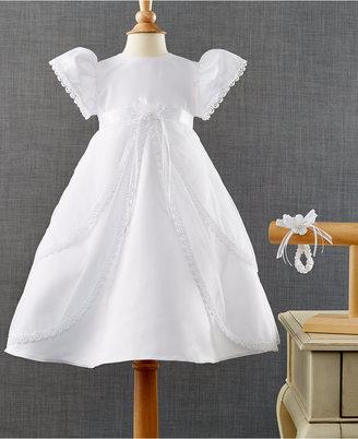 Lauren Madison Baby Girls' 2-Piece Headband & Christening Dress Set $70 thestylecure.com