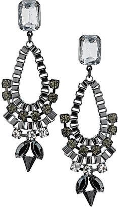 Topshop Rhinestone Drop Earrings