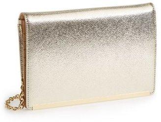 Halogen Saffiano Leather Crossbody Wallet