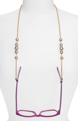 Women's L. Erickson 'Cadabra' Swarovski Crystal Eyeglass Chain - Brown/ Gold $145 thestylecure.com
