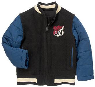 Gymboree Rocker Patch Melton Varsity Jacket