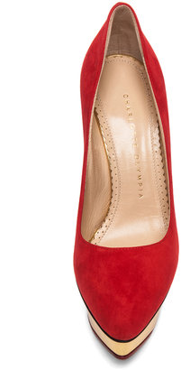 Charlotte Olympia Cindy Suede Pumps in Red