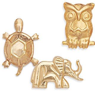 Bed Bath & Beyond 14K Yellow Gold Children's Animal Earrings