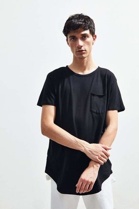 Urban Outfitters Scoop Neck Curved Hem Tee