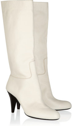 Bally Noraille textured-leather mid-calf boots