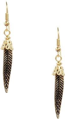 Asos Leaf Earrings - Gold