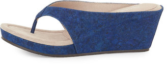 Donald J Pliner Gilles Cork Wedge Thong Slide, Indigo