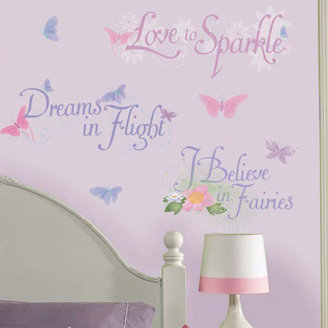 Room Mates Licensed Designs Disney Fairies Phrases Wall Decal $19.98 thestylecure.com