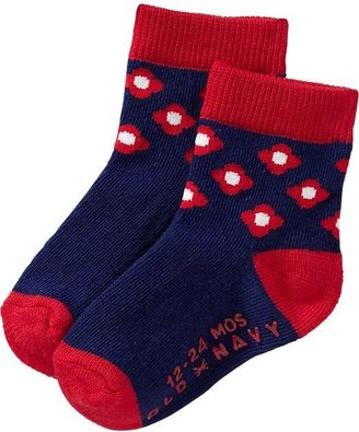 Old Navy Patterned Crew Socks for Baby