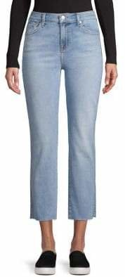7 For All Mankind Luxe Vintage Edie Jeans With Cut Off Hem