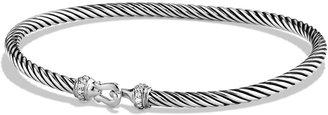 David Yurman 3mm Cable Buckle Bracelet with Diamonds