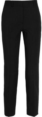 Alberta Ferretti Cropped wool-blend twill pants