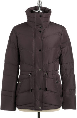 Kenneth Cole Reaction Funnel Neck Puffer Coat