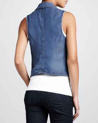 Splendid Chambray Zip Vest