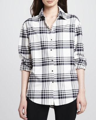 Elizabeth and James Pam Plaid Button-Down Shirt