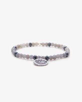 Momentz Monte-carlo Beaded Stretch Bracelet: Grey