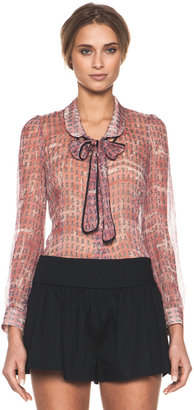 RED Valentino Printed Creponne Top in Anchor