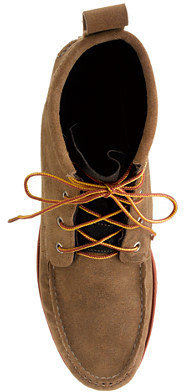 Quoddy for J.Crew suede boots with Vibram sole