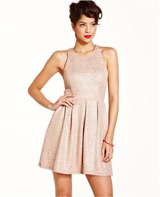 Monroe Marilyn Juniors Dress, Sleeveless Textured A-Line
