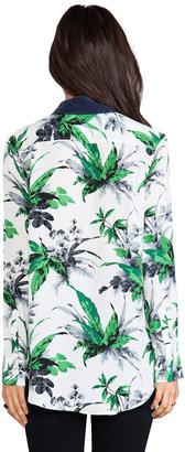 Equipment Reese Paradise Palm Print Blouse