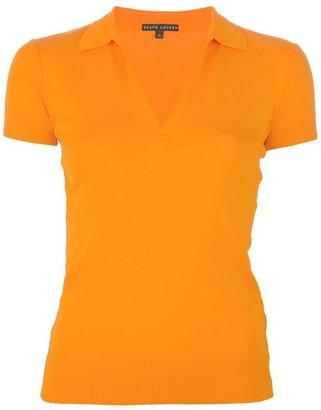Ralph Lauren Black V-neck polo shirt